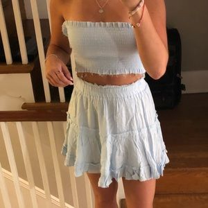 Blue two piece set